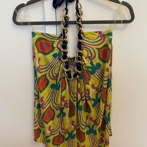 TBags chain printed halter top